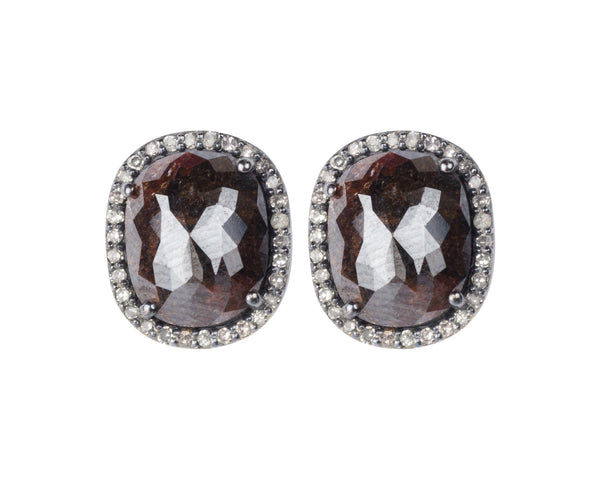 Rosecut Diamond Earrings