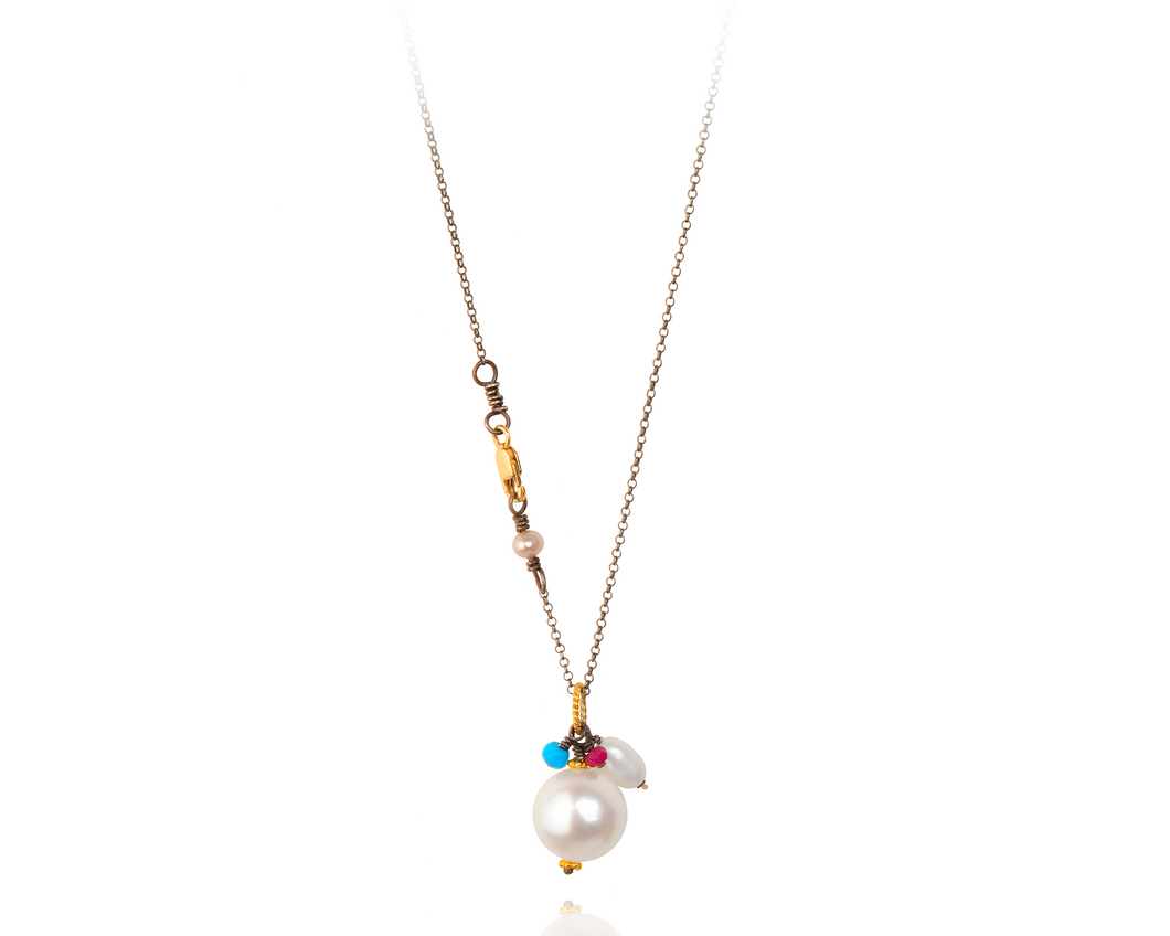 Chain Royal Drop Necklace | Freshwater Pearl