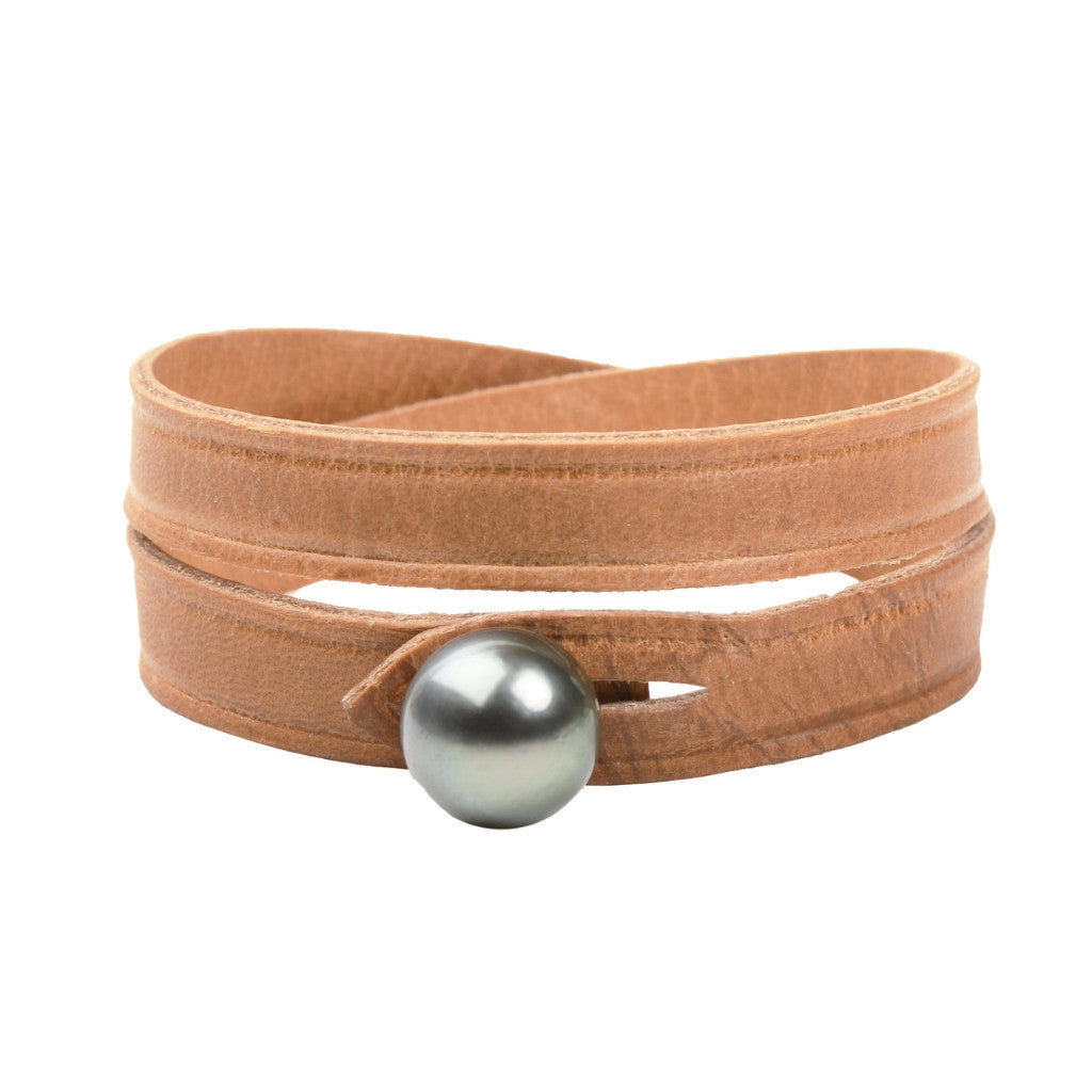 Southwest Bridle Double, Tahitian - Hottest Designer Pearl and Leather Jewelry | VINCENT PEACH  - 1