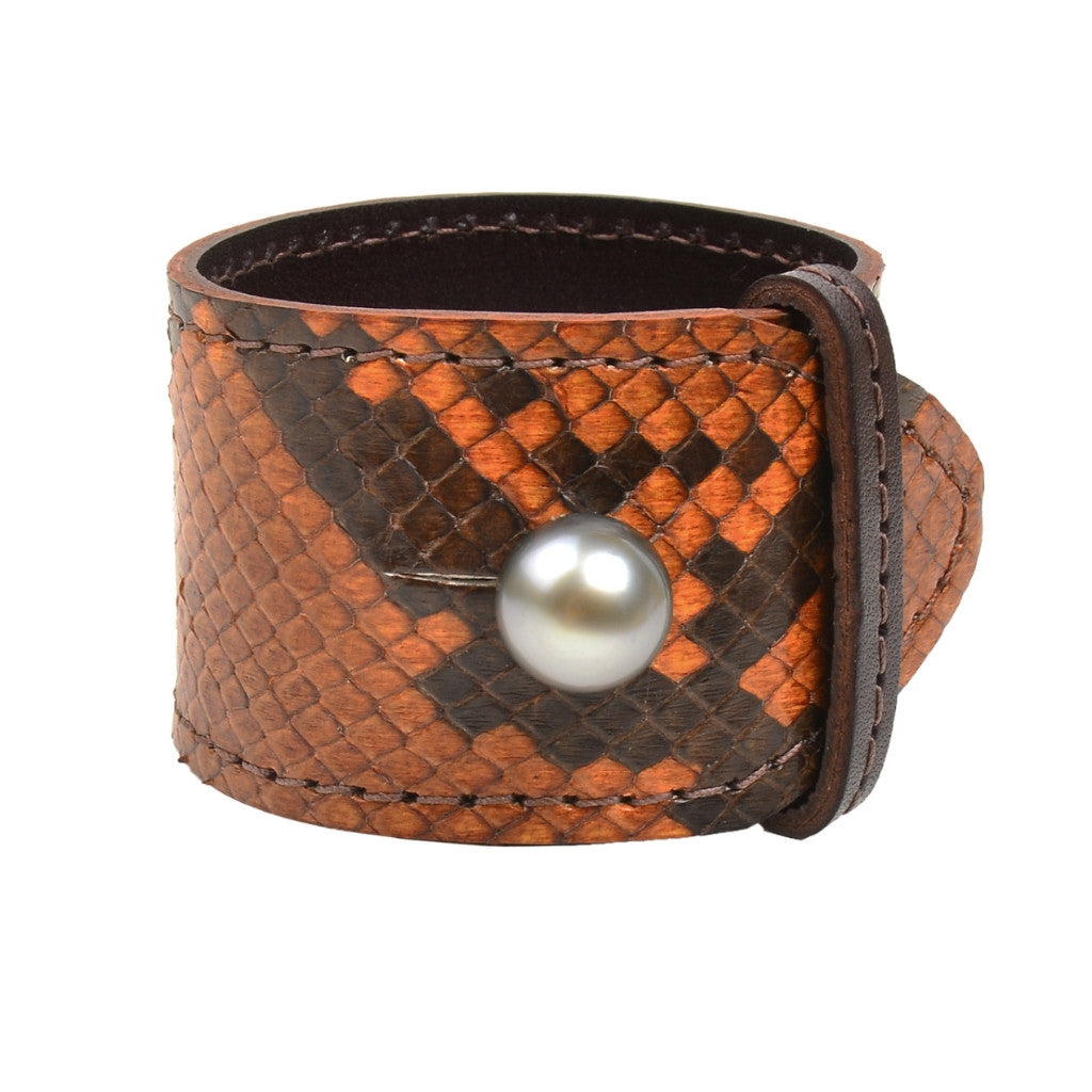 Safari Apollo Cuff - Hottest Designer Pearl and Leather Jewelry | VINCENT PEACH