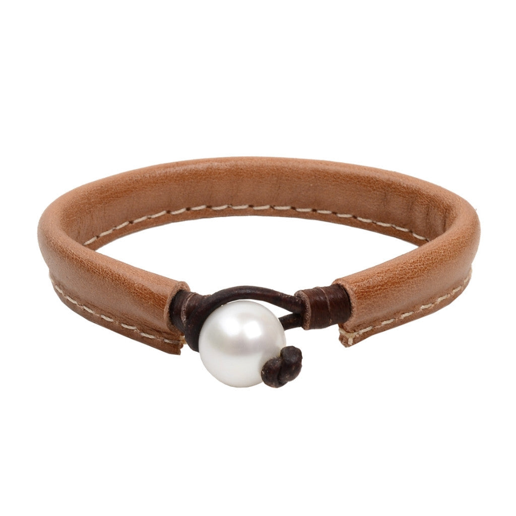 Safari Thin Bracelet, Freshwater - Hottest Designer Pearl and Leather Jewelry | VINCENT PEACH  - 1