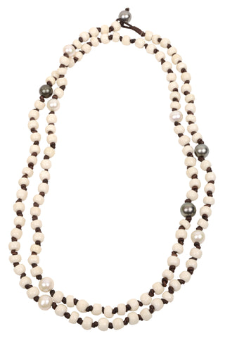 Sao Paulo Necklace - Hottest Designer Pearl and Leather Jewelry | VINCENT PEACH