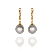 White South Sea Gold Drop Earrings