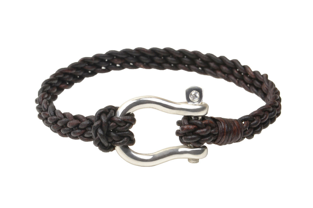 Shackle Bracelet - Hottest Designer Pearl and Leather Jewelry | VINCENT PEACH  - 1