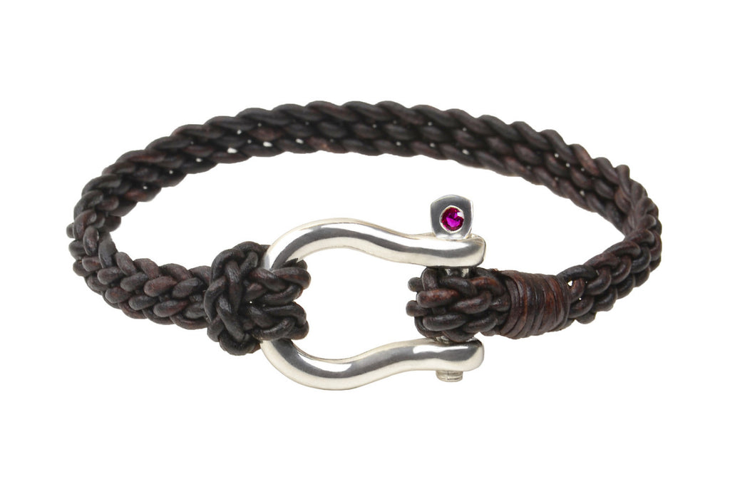 Shackle Bracelet - Hottest Designer Pearl and Leather Jewelry | VINCENT PEACH  - 3