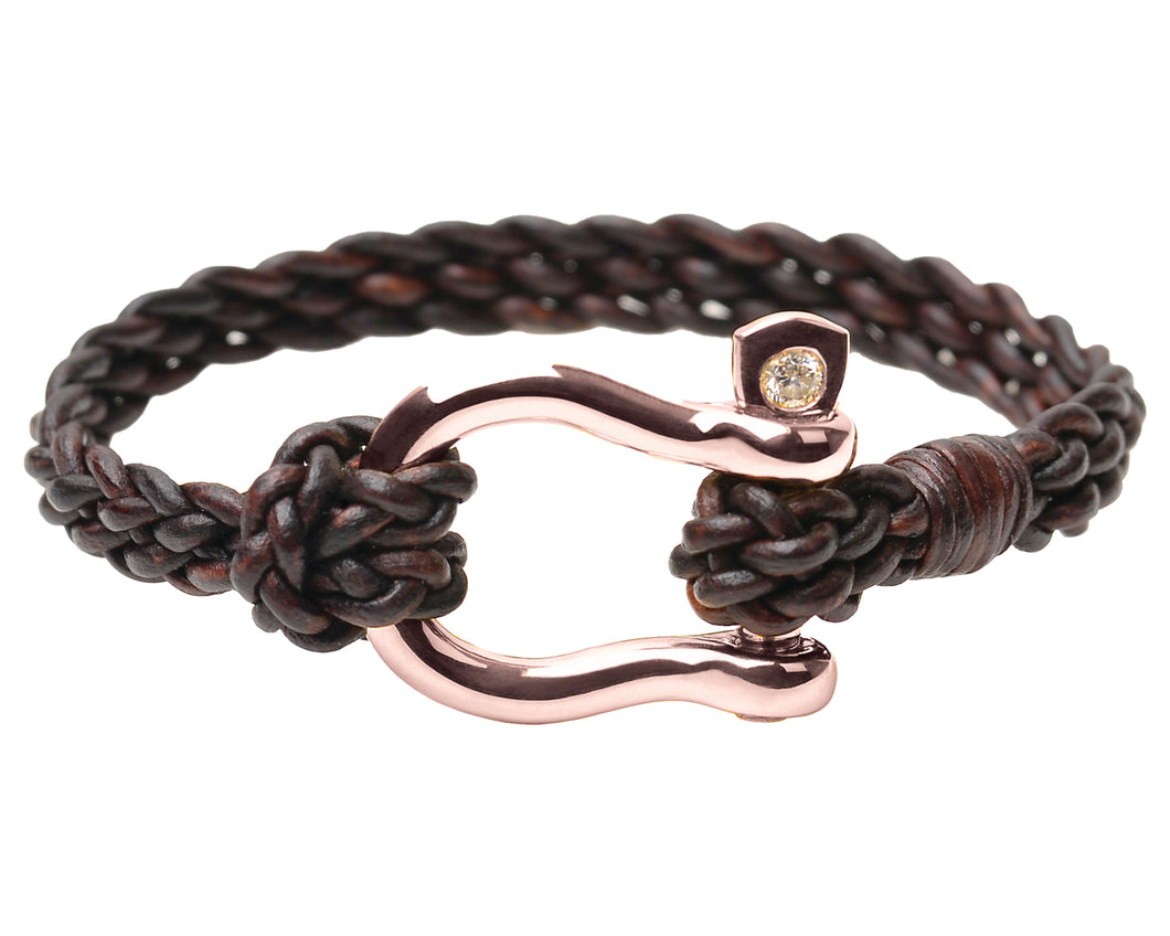 Rose Gold shackle Bracelet