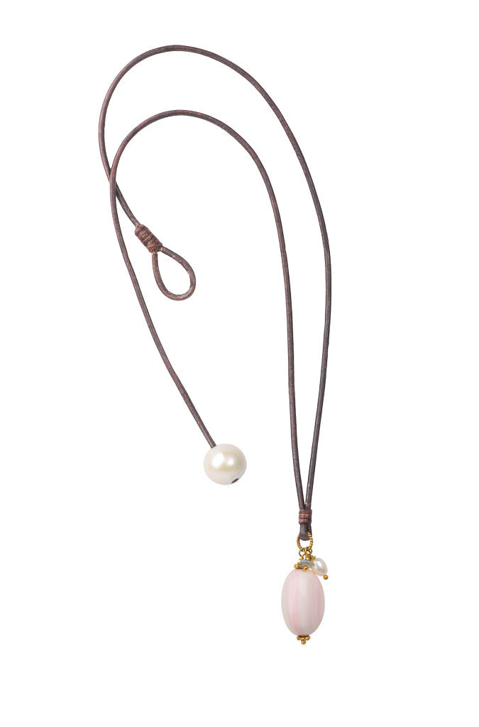 Shell Royal Drop - Hottest Designer Pearl and Leather Jewelry | VINCENT PEACH