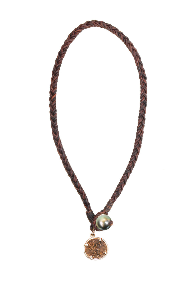 Shipsman VOC Necklace - Hottest Designer Pearl and Leather Jewelry | VINCENT PEACH  - 2