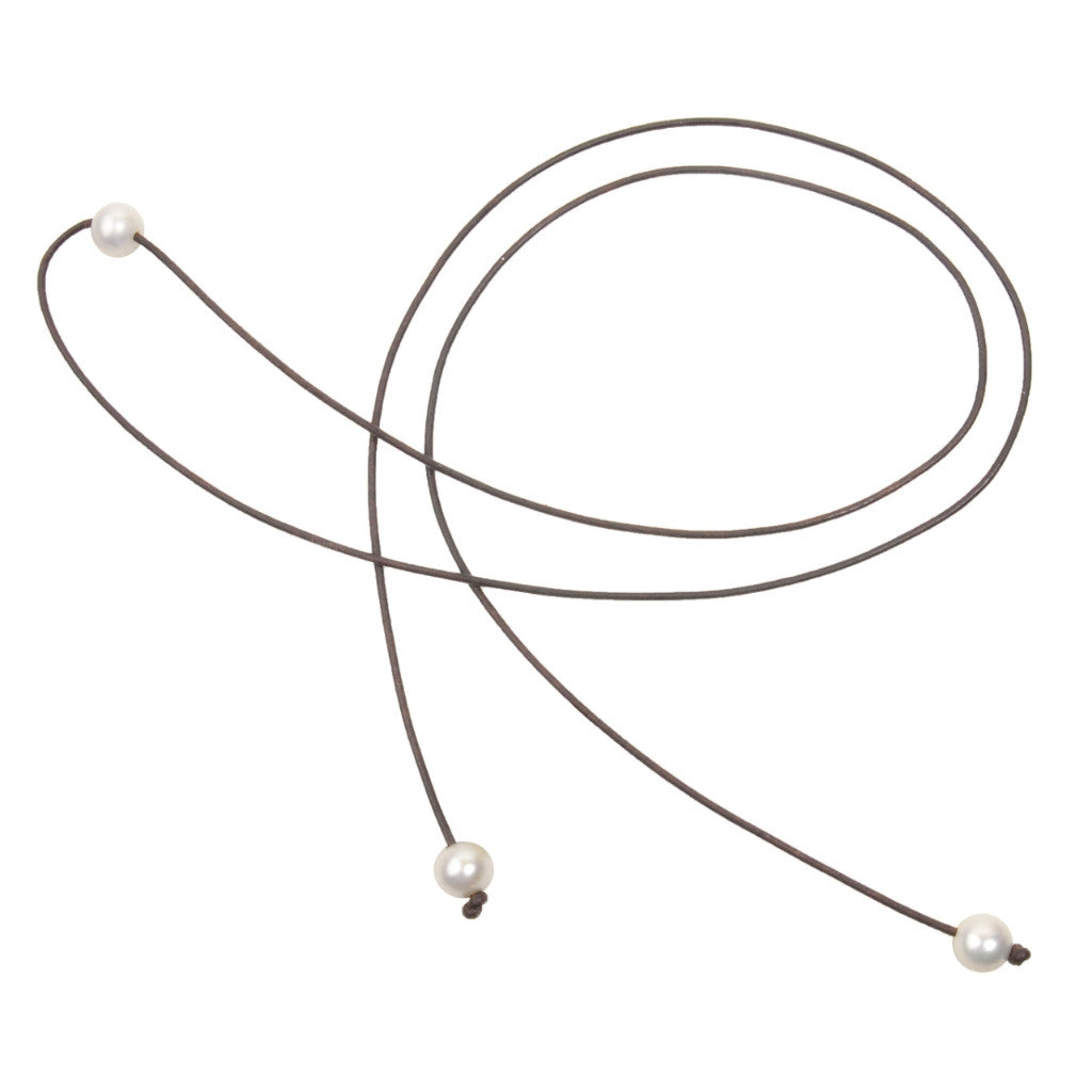 Signature Lariat - Hottest Designer Pearl and Leather Jewelry | VINCENT PEACH