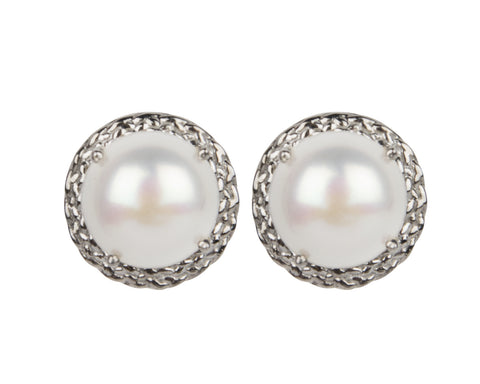 Signature Braided Pearl Earrings