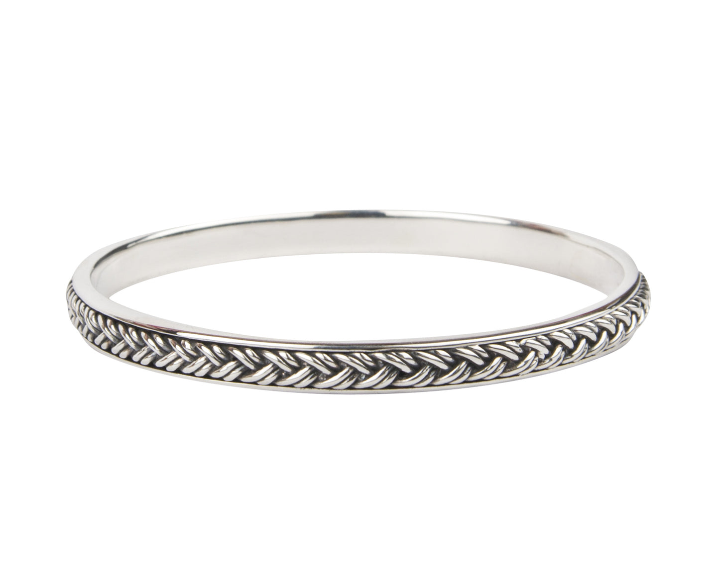 Six Strand Signature Braided Bangle