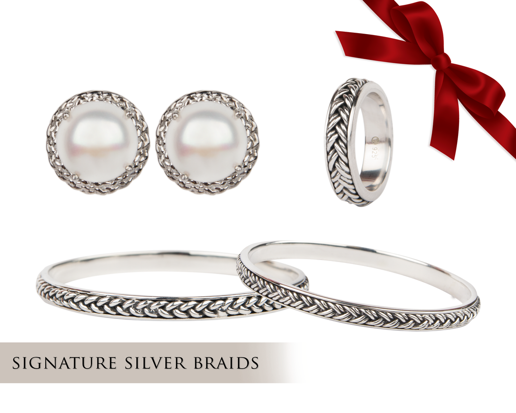 Signature Silver Braid Gift Set
