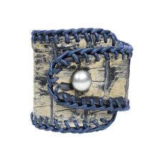 Spanish Croc Cuff - Hottest Designer Pearl and Leather Jewelry | VINCENT PEACH  - 3