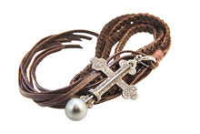 St. John of the Cross Necklace - Hottest Designer Pearl and Leather Jewelry | VINCENT PEACH  - 2