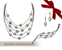 Tahitian Pearl and Leather Holiday Gift Set | Black Friday Deal