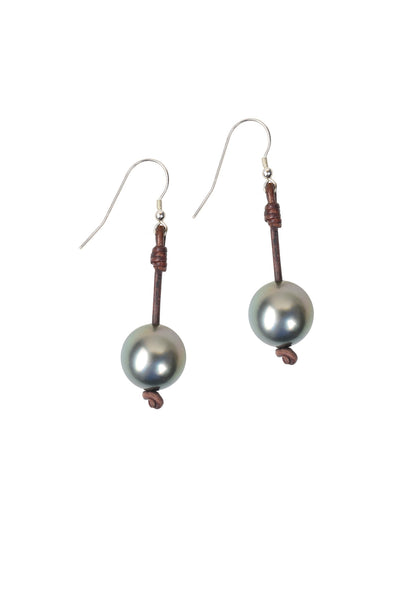 Seaplicity Earrings, Tahitian - Hottest Designer Pearl and Leather Jewelry | VINCENT PEACH  - 1