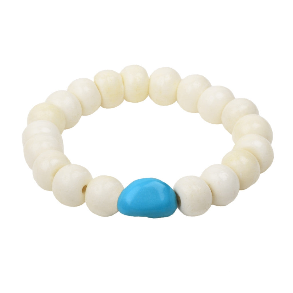 Turquoise Stretch Bracelet - Hottest Designer Pearl and Leather Jewelry | VINCENT PEACH
