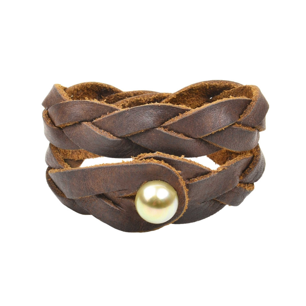 Tuscon Double Wrap - Hottest Designer Pearl and Leather Jewelry | VINCENT PEACH