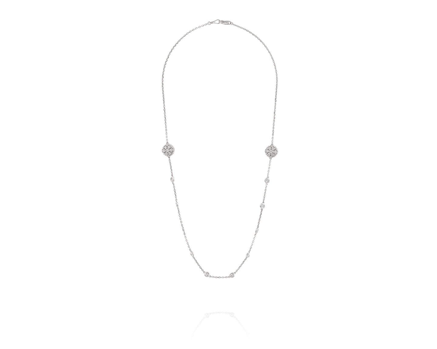 14k White Gold 1.10ct Diamond Necklace