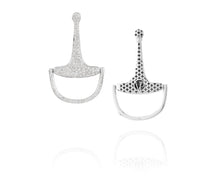 Medium Equestrian Bit Earrings | Diamond