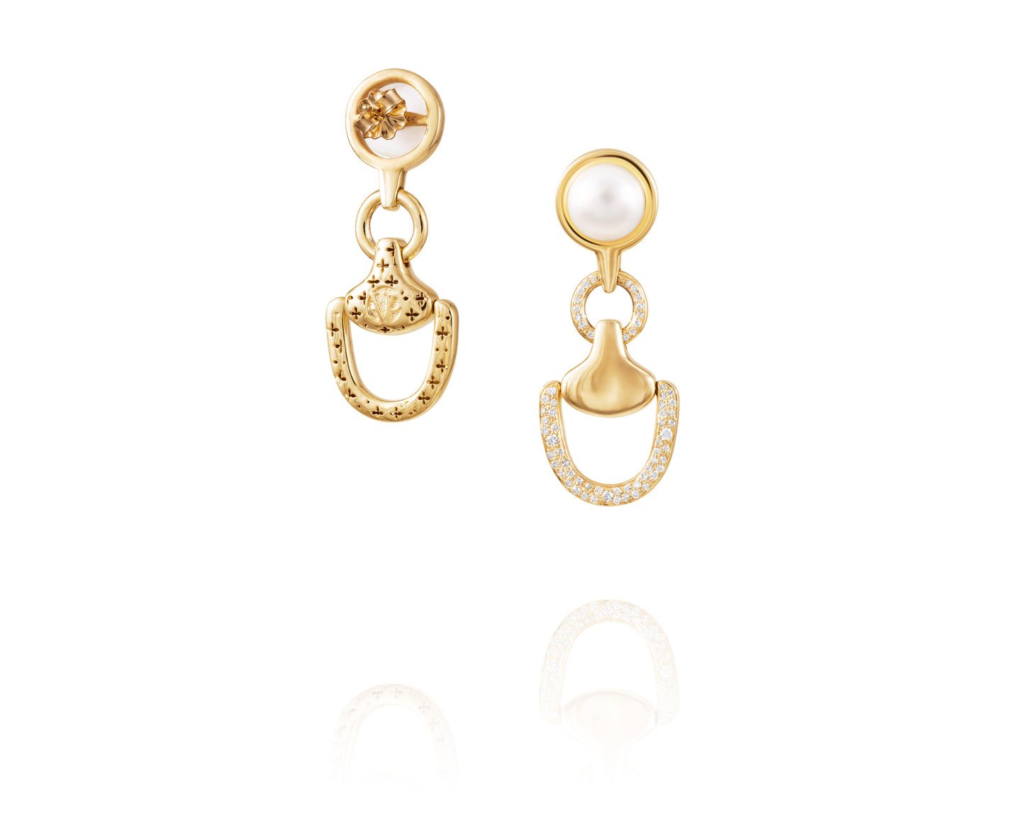 Churchill Downs Earrings | Gold Diamond