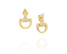 Small Equestrian Bit Earrings | Diamond