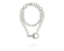 Stirrup Lock Chain Necklace | Diamond