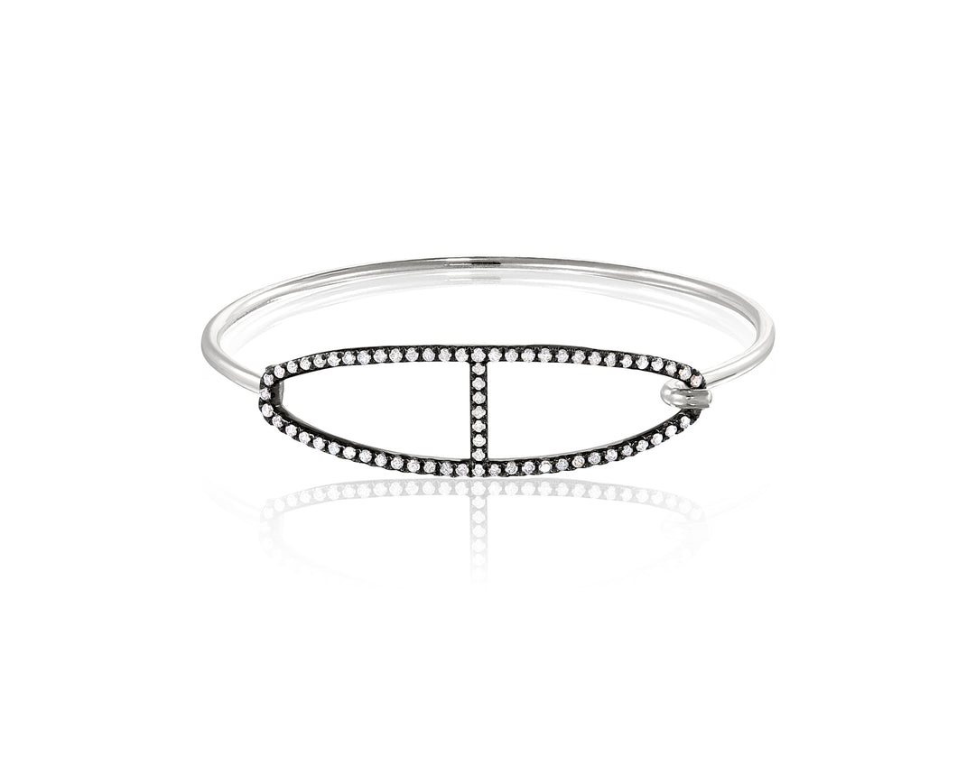 Kingston Buckle Bangle | Diamond