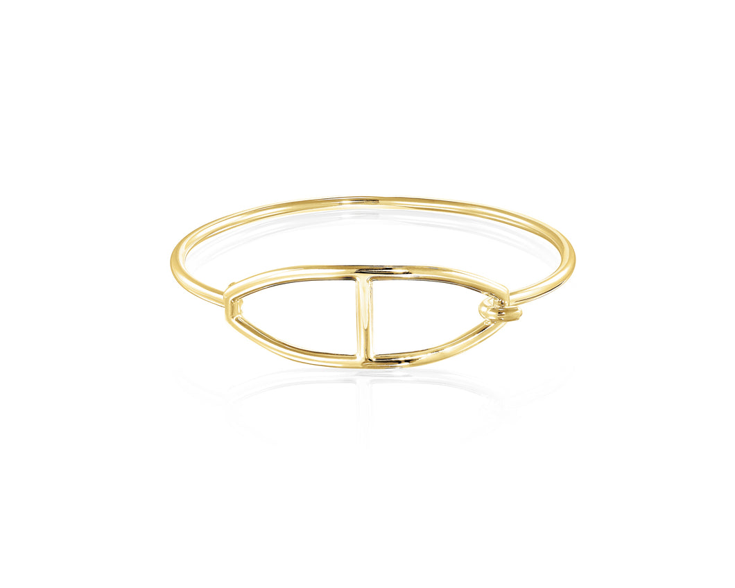 Kingston Buckle Bangle | Gold