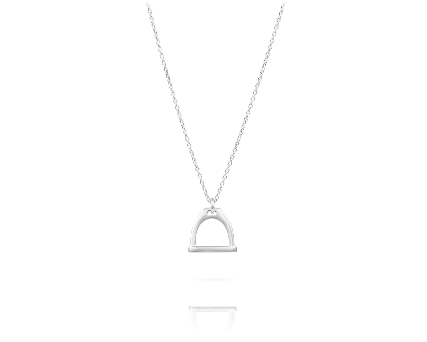 Small Stirrup Charm Necklace