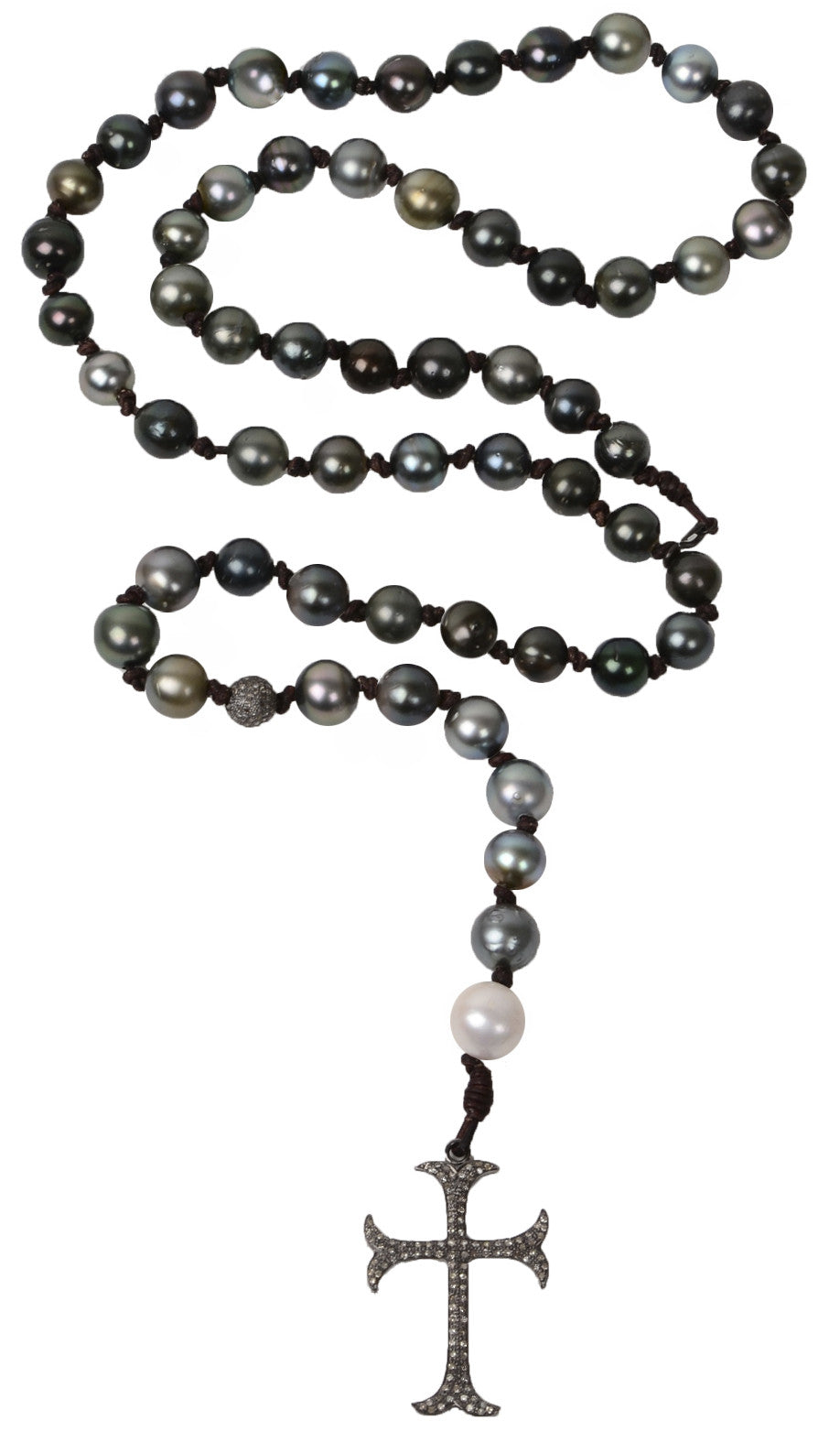 Intentions Necklace, Tahitian - Hottest Designer Pearl and Leather Jewelry | VINCENT PEACH