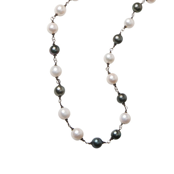 Opera Length Wire Wrap - Hottest Designer Pearl and Leather Jewelry | VINCENT PEACH  - 1