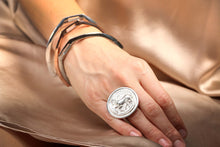 Trojan Coin Ring - Hottest Designer Pearl and Leather Jewelry | VINCENT PEACH  - 2