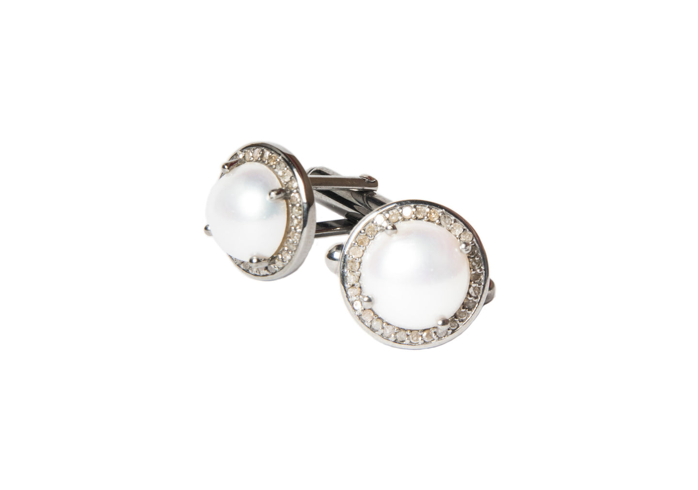 Weekender Cuff Links - Hottest Designer Pearl and Leather Jewelry | VINCENT PEACH