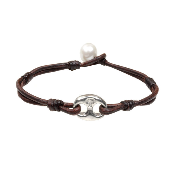 Windward Bracelet - Hottest Designer Pearl and Leather Jewelry | VINCENT PEACH