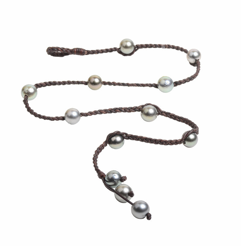 Martinique Lariat, Tahitian - Hottest Designer Pearl and Leather Jewelry | VINCENT PEACH  - 3