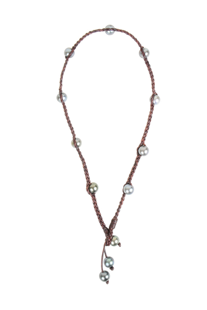 Martinique Lariat, Tahitian - Hottest Designer Pearl and Leather Jewelry | VINCENT PEACH  - 1