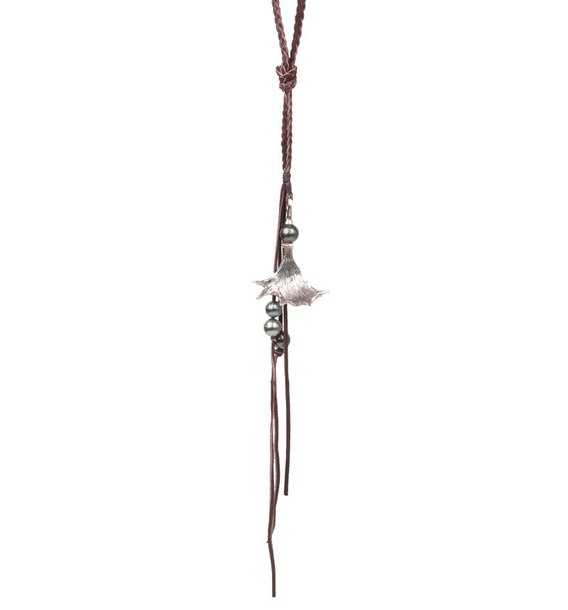 Moose Horn Necklace, Tahitian - Hottest Designer Pearl and Leather Jewelry | VINCENT PEACH  - 3