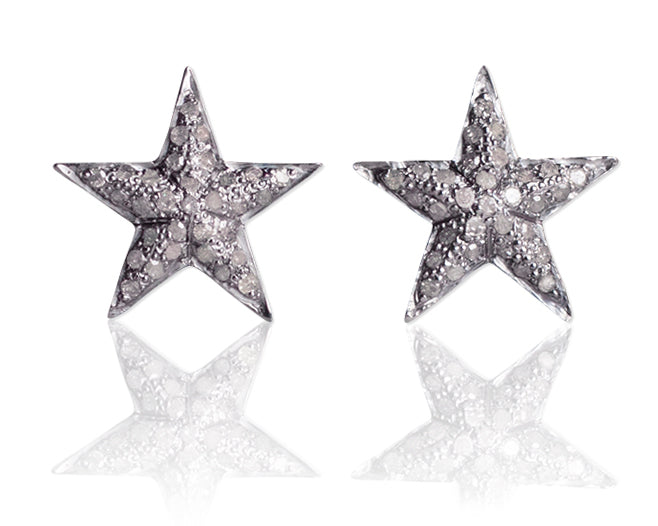 Diamond Star Post Earrings by Vincent Peach Fine Jewelry