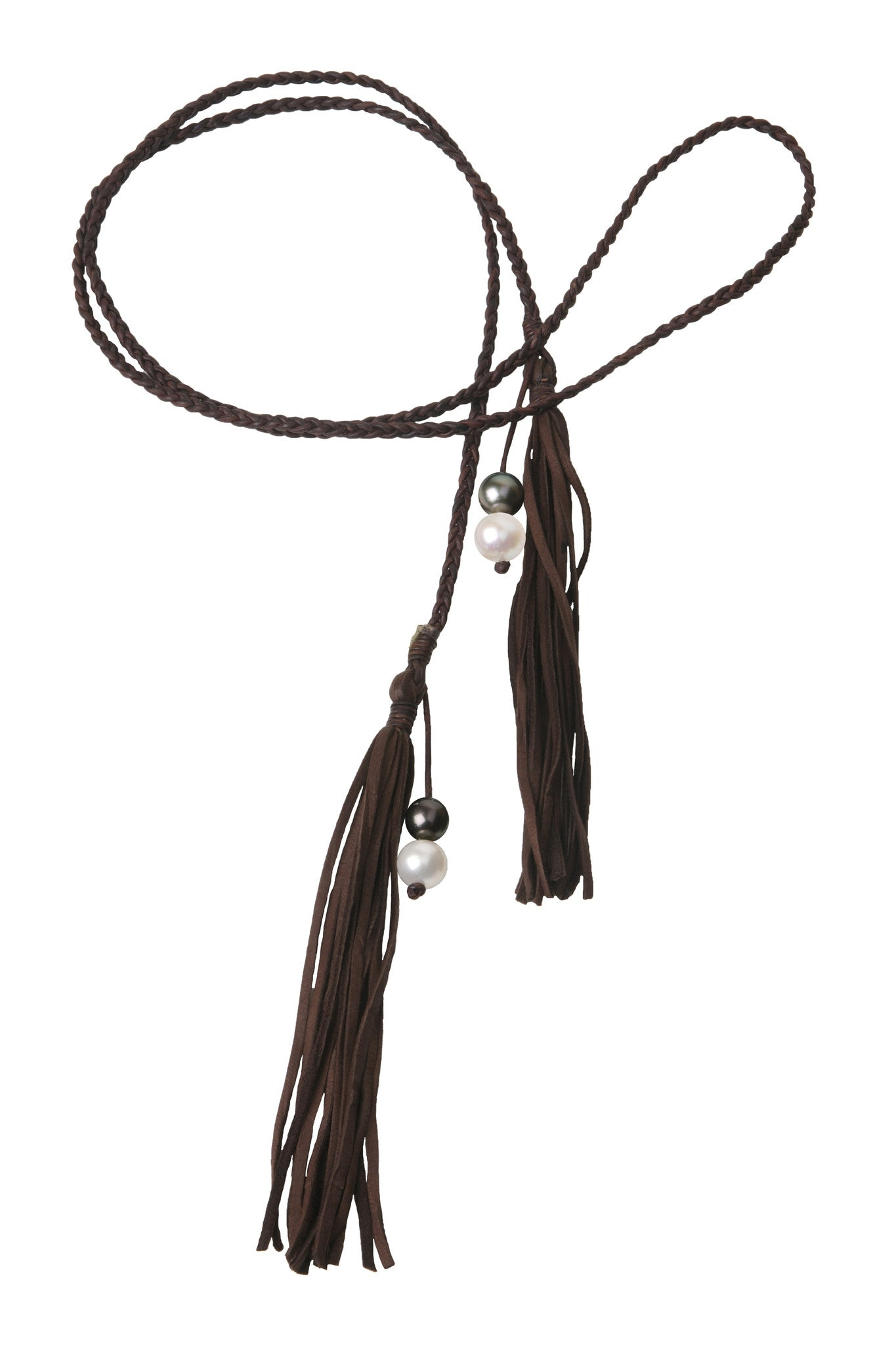 Fringe Bolo, Freshwater and Tahitian - Hottest Designer Pearl and Leather Jewelry | VINCENT PEACH