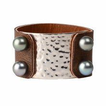 Nashville Cuff - Hottest Designer Pearl and Leather Jewelry | VINCENT PEACH  - 2