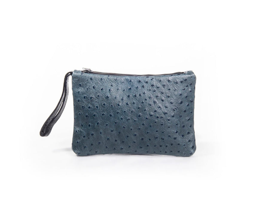 nord by nord, nord by nord bag, nord by nord bags, by nord, nord, petrol clutch, blue clutch, handbag, womens bag, purse, ostrich leather, leather bag