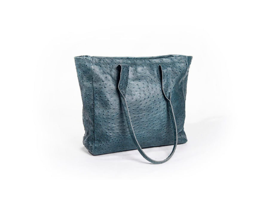 nord by nord, nord by nord bag, nord by nord bags, by nord, nord, petrol bag, blue bag, shopper, ostrich leather bag, leather bag, sustainable bag, sustainable leather, fashion bag, fashion shopper, blue shopper