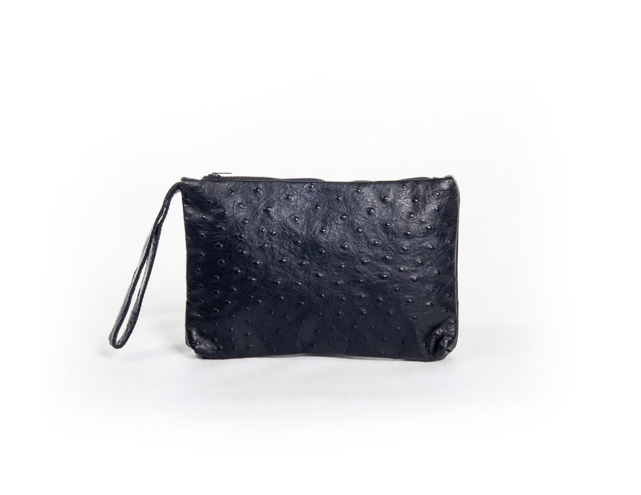 nord by nord, nord by nord bag, nord by nord bags, by nord, nord, petrol clutch, black clutch, handbag, womens bag, purse, ostrich leather, leather bag