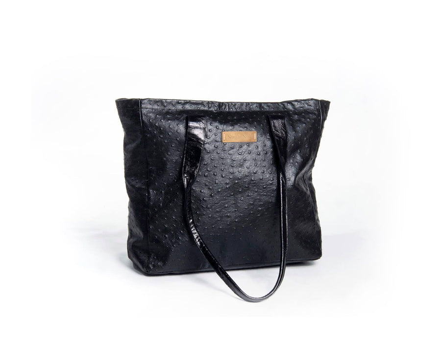 nord by nord, nord by nord bag, nord by nord bags, by nord, nord, hand bag, black bag, shopper, ostrich leather bag, leather bag, sustainable bag, sustainable leather, fashion bag, fashion shopper, black shopper