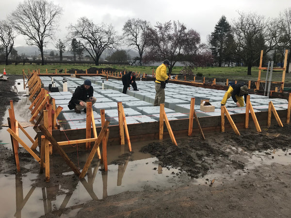 RJ Doston chose the Wafflemat Foundation System as their preferred foundation for its production cycle time reduction capabilities and increased efficiency especially in rainy conditions.