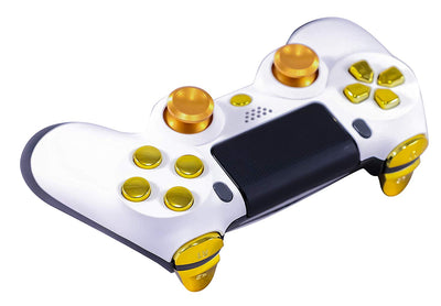 Modded White Gold Geniusmods Elite Controller