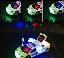 Load image into Gallery viewer, Music 360 degree rotating door electric toy car
