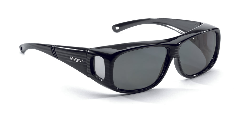 Over the Glasses - Gloss Black/Grey Stripe Frame (S/M)