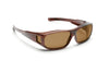 Over the Glasses - Brown Translucent Frame - Brown Melanin Polarized Lens - (S/M)